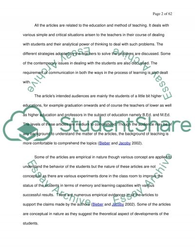 Interp and designing educational research essay example