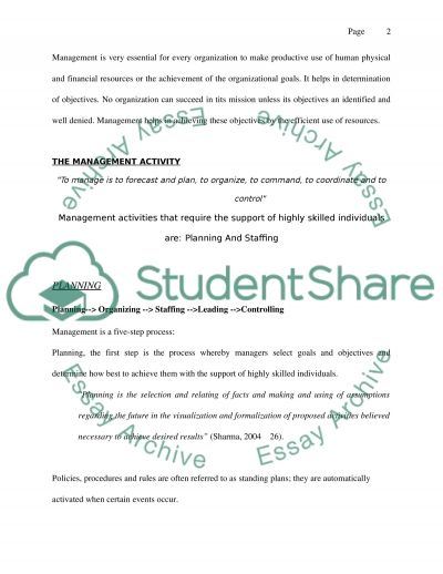Management Theory And Practice essay example