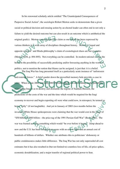 Troop withdrawal from Iraq essay example
