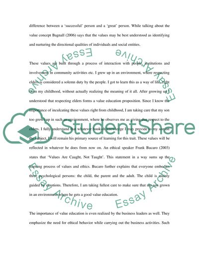 Personal Values Developement Paper