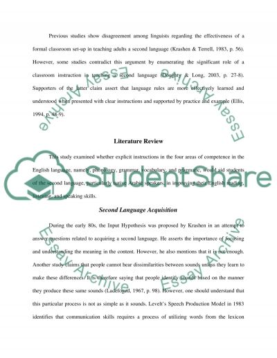 Language Learning - Interview Analysis essay example