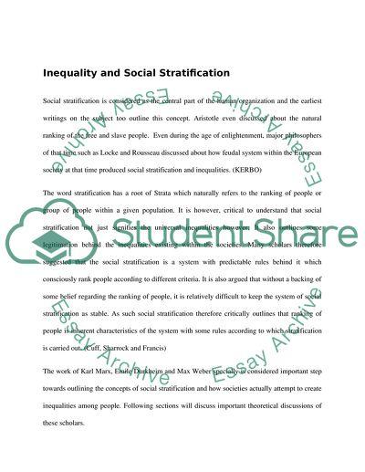 karl marx and max weber social stratification