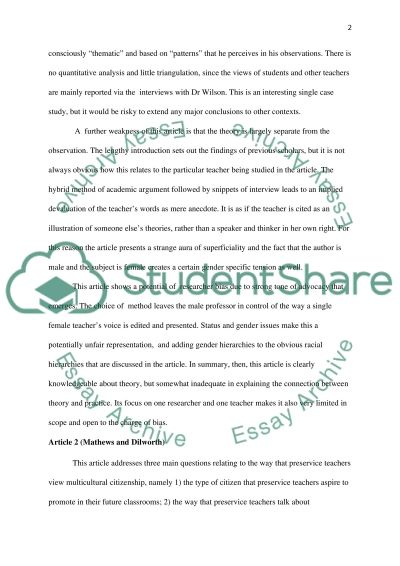 The Role of Multicultural Education in Citizenship essay example
