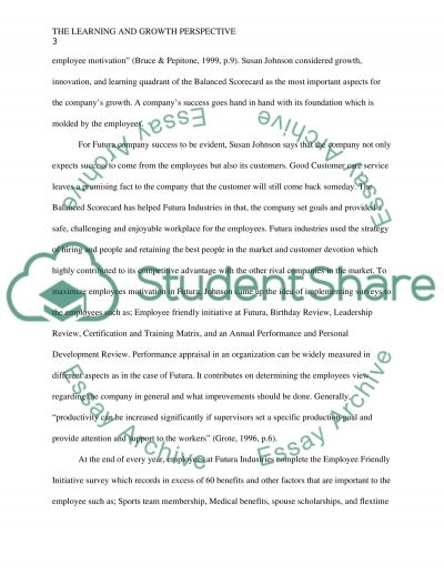 The Learning and Growth Perspective essay example