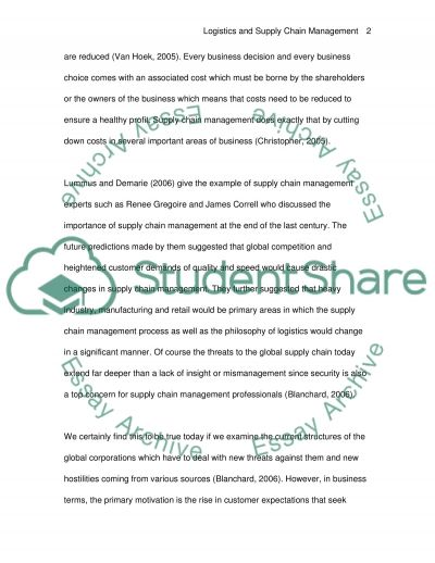 Essays On Faith Logistics And Supply Chain Management Animals Rights Essay also Best Essay Services Logistics And Supply Chain Management Essay Example  Topics And  Examples Of Law Essays