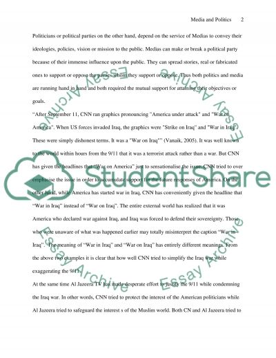 Global Issues- THE USE OF MEDIA FOR POLITICAL PURPOSES essay example