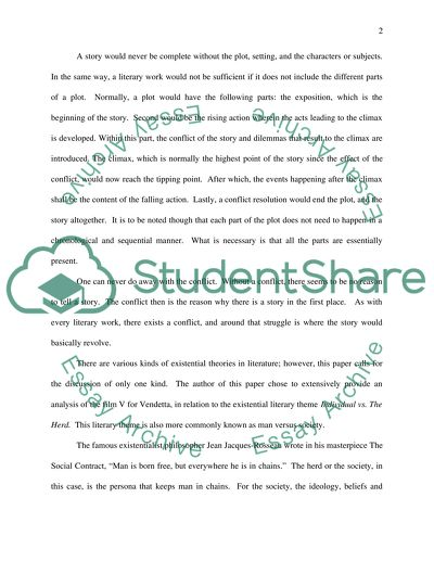 Sample Apa Essay Paper Existential Themes In The Movie V For Vendetta Sample Essay Papers also Thesis In An Essay Existential Themes In The Movie V For Vendetta Essay Custom Writing Review Site