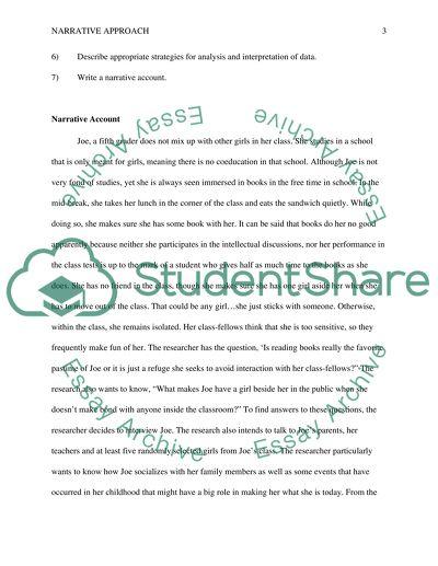 Mock Essay on Narrative Research(Qualitative)