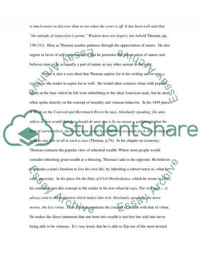 Thoreaus Masculinity essay example