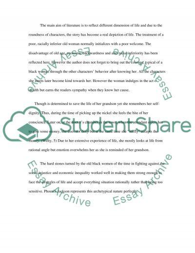 A worn path essay example