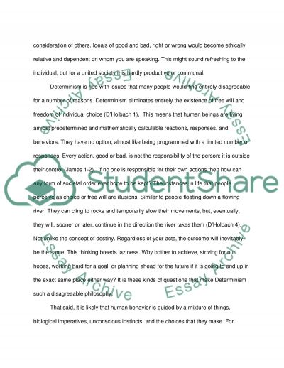 Are We Free, or Are Our Actions Determined essay example