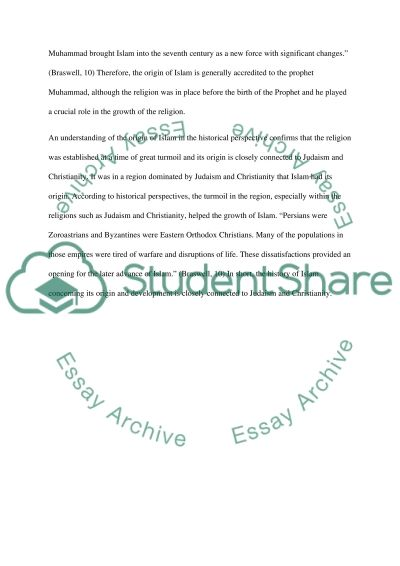Islam essay example