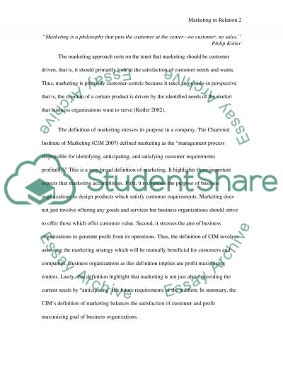 The application of the marketing principles essay example