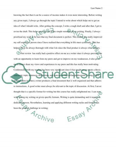 Course Self Reflective Essay