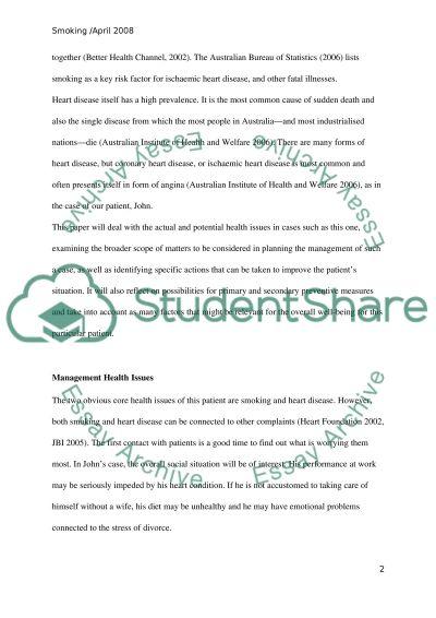 Design a management plan for a patient essay example