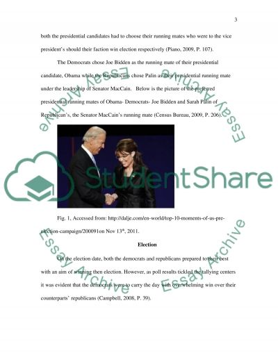 The 2008 US Election Campaign (POLITICAL Advertising or Campaign Launches & conventions) essay example