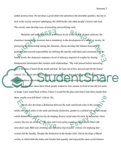 Essay 2 (Sherman Alexie Casebook)