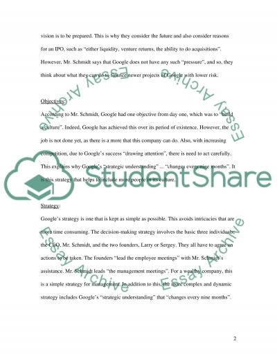 Strategic Management CEO Essay example