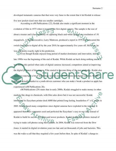 Case study writers kodak company