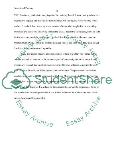Educational Planning and Development: External Influences