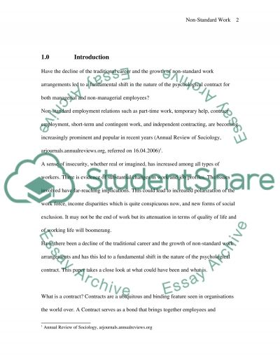 Psychological Contract essay example