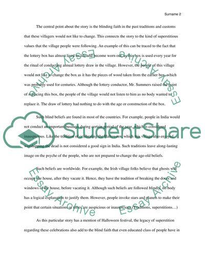 Short Story Essay