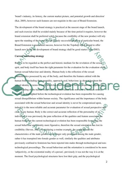 Case study analysis of a predetermined international fashion organisation (topshop) essay example