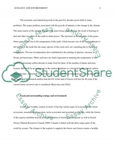 Ecology and the Environment essay example