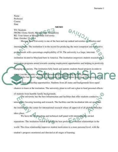 memo assignment english 250