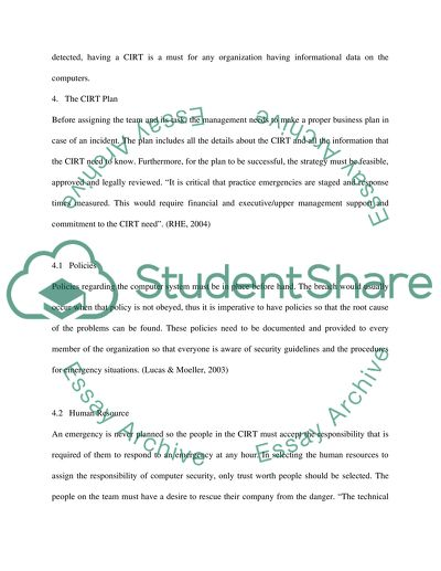 essay about an incident