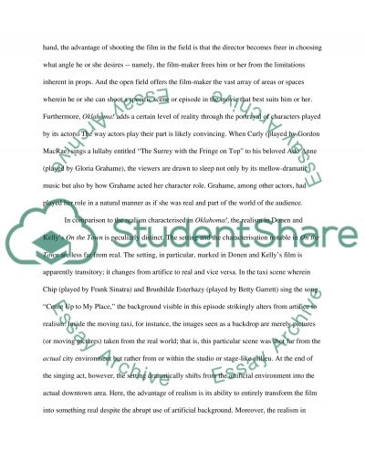 Transition from Stage to Screen: Advantages and Disadvantages of Artifice and Realism essay example