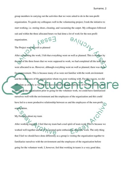service learning paper example