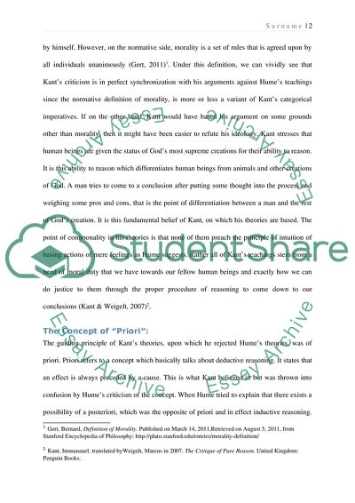 Essay About Kant Hume Or Aristotle Example  Topics And Well  Essay About Kant Hume Or Aristotle