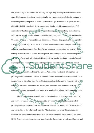 Everyone should have a concealed handgun carry permit/license essay example