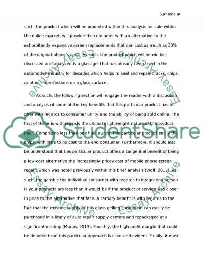 The Perfect eProduct essay example