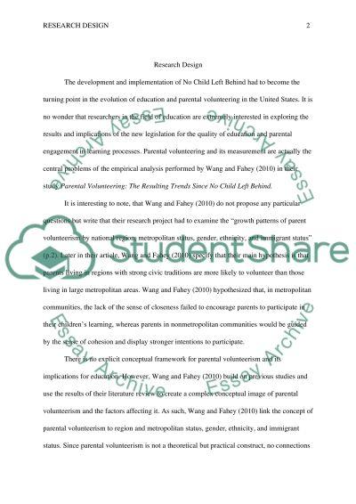 No Child Left Behind essay example