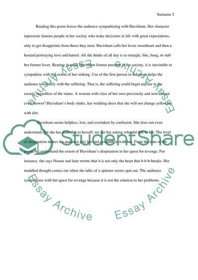 Essay On High School Experience Havisham How To Write A Essay For High School also English Essay On Terrorism Havisham Essay Example  Topics And Well Written Essays   Words Science Fair Essay