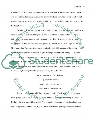 langston hughes contribution essay example This essay example has been harlem renaissance & more 5-15-14 which generalization most accurately describes the literary works of langston hughes.