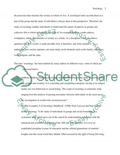What is Sociology and Why We Study it essay example