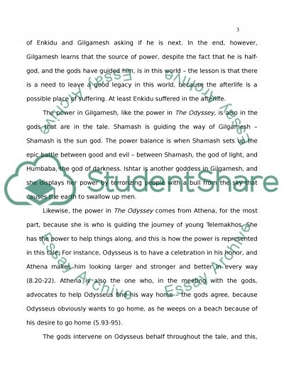 power in gilgamesh and the odyssey essay example topics and well   text preview