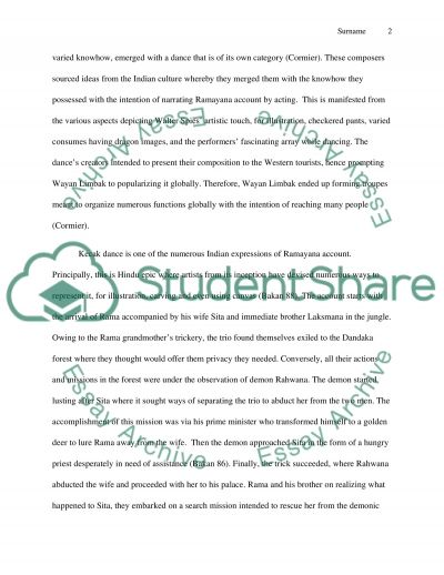 Kecak Dance essay example