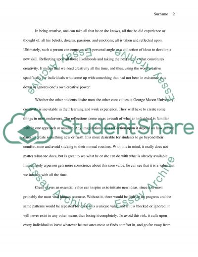 Treasure Island Essay The Reasons Behind Choosing Creativity As The Most Core Values Of The  Reasons Behind Choosing Creativity Ambition Essay also Essay Writing On My Best Friend Core Values Essay The Reasons Behind Choosing Creativity As The Most  Essay On William Shakespeare Biography