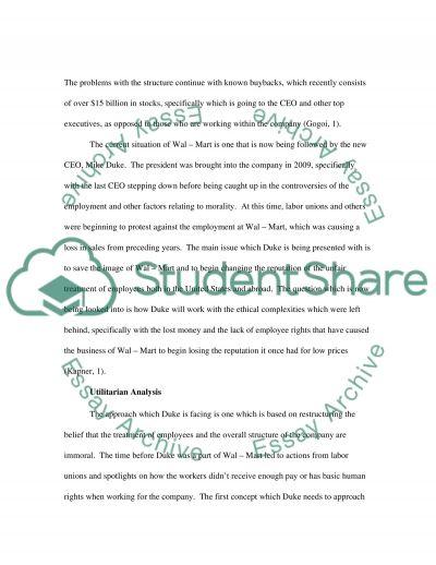 Moral Problem Paper essay example