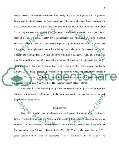 Commercial Marketing of Aloe Vera essay example