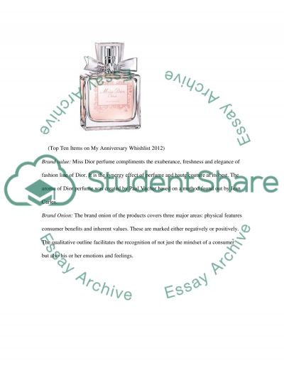 Fashion promotion - Miss Dior essay example