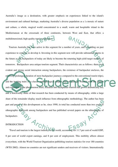 Structured Essay On A Comprehensive Marketing Plan To Promote Yha Structured Essay On A Comprehensive Marketing Plan To Promote Yha Australia  Using Uks Back Packers As