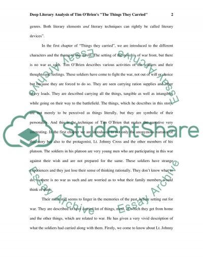Tim OBriens The Things They Carried College Book Report/Review essay example