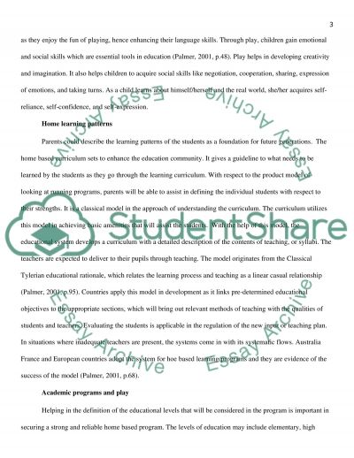 Play Experiences essay example