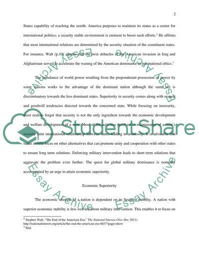 international relations essay examples