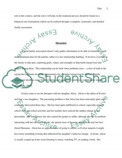 Family Assessment essay example